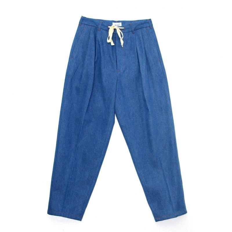 画像1: yotsuba - Denim Wide Pants [Wash]