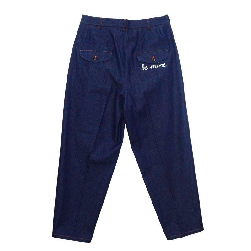 画像2: yotsuba - Denim Wide Pants [Indigo]