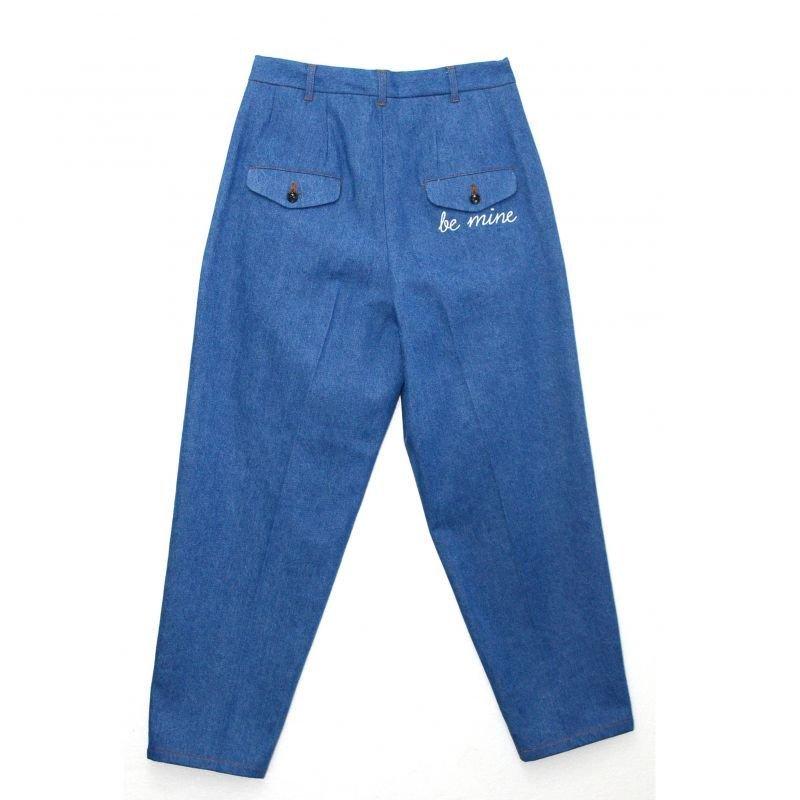 画像2: yotsuba - Denim Wide Pants [Wash]
