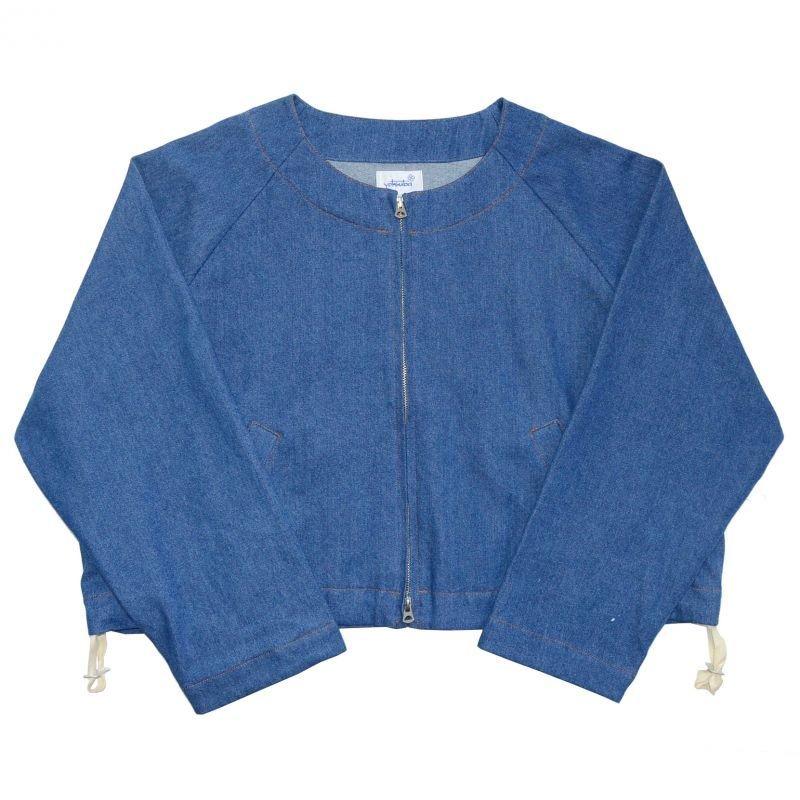 画像1: yotsuba - Nocollar Denim Jacket [Wash]