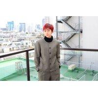 TOKIO KUMAGAI - Gray ノーカラーワイドパンツセットアップ