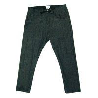 yotsuba - Cropped Denim Pants [Black]