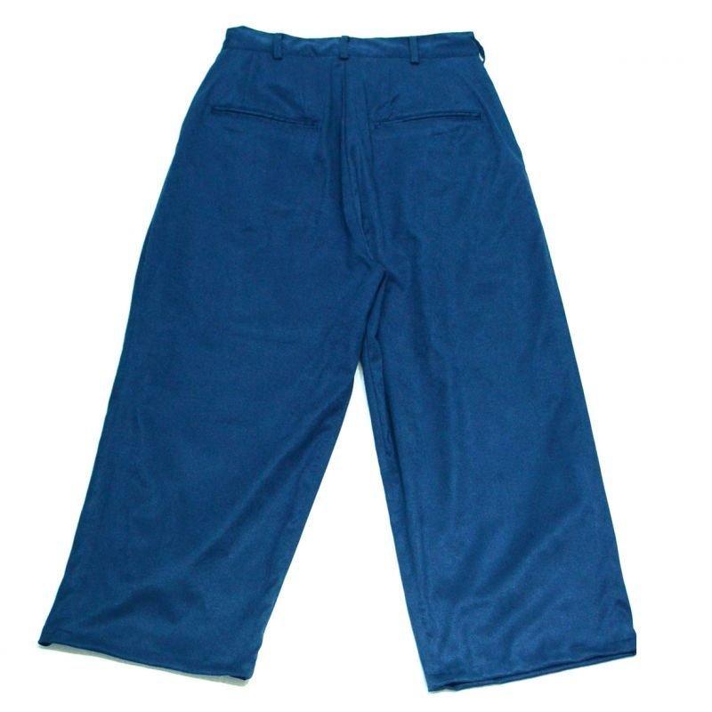 画像2: yotsuba - Fakesuede 4tuck Wide Pants [Blue]