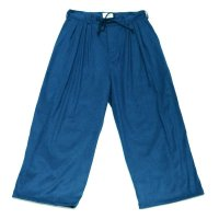 yotsuba - Fakesuede 4tuck Wide Pants [Blue]