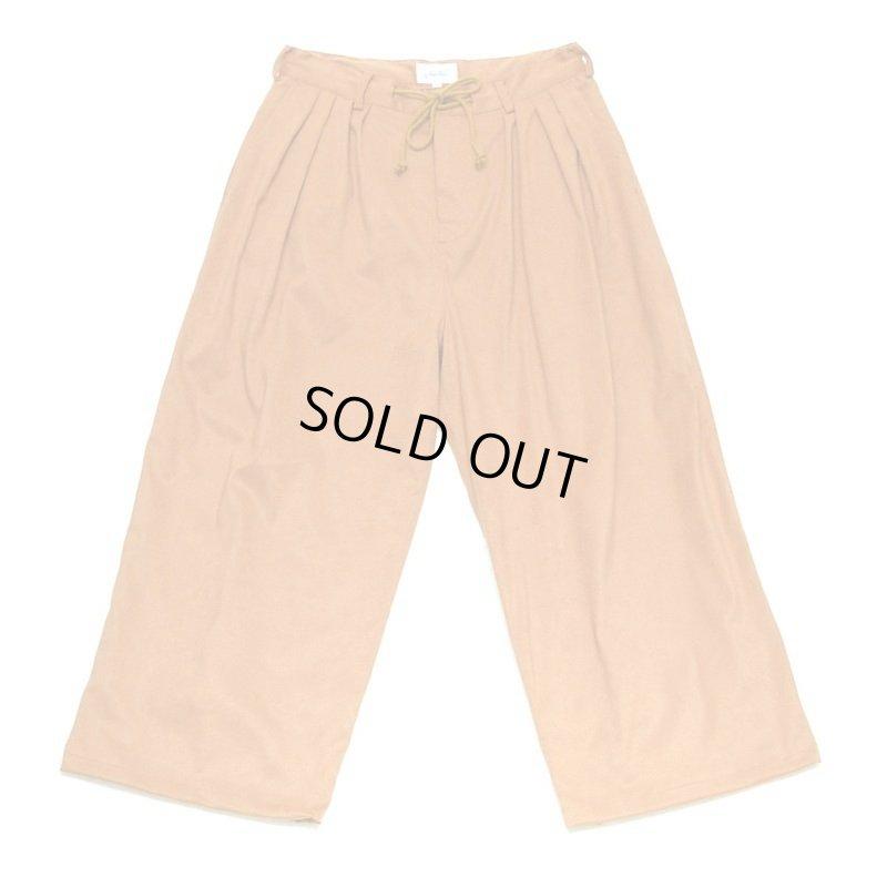 画像1: yotsuba - Fakesuede 4tuck Wide Pants [Orange]