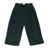 yotsuba - Fakesuede 4tuck Wide Pants [Black]