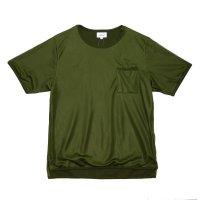 yotsuba - Short sleeve mesh tops [Khaki]