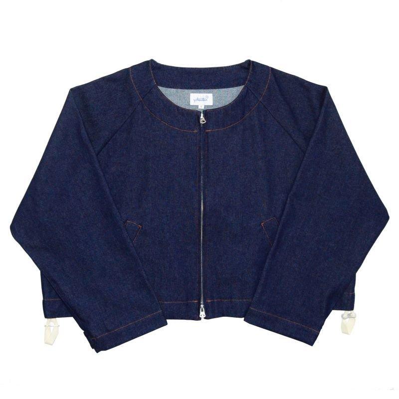 画像1: yotsuba - Nocollar Denim Jacket [Indigo]