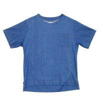 yotsuba - Shortsleeve Denim Tops [Wash]