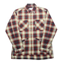 yotsuba - Cotton & Rayon Shadow Check Shirt [Red]