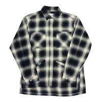 yotsuba - Cotton & Rayon Shadow Check Shirt [Black]