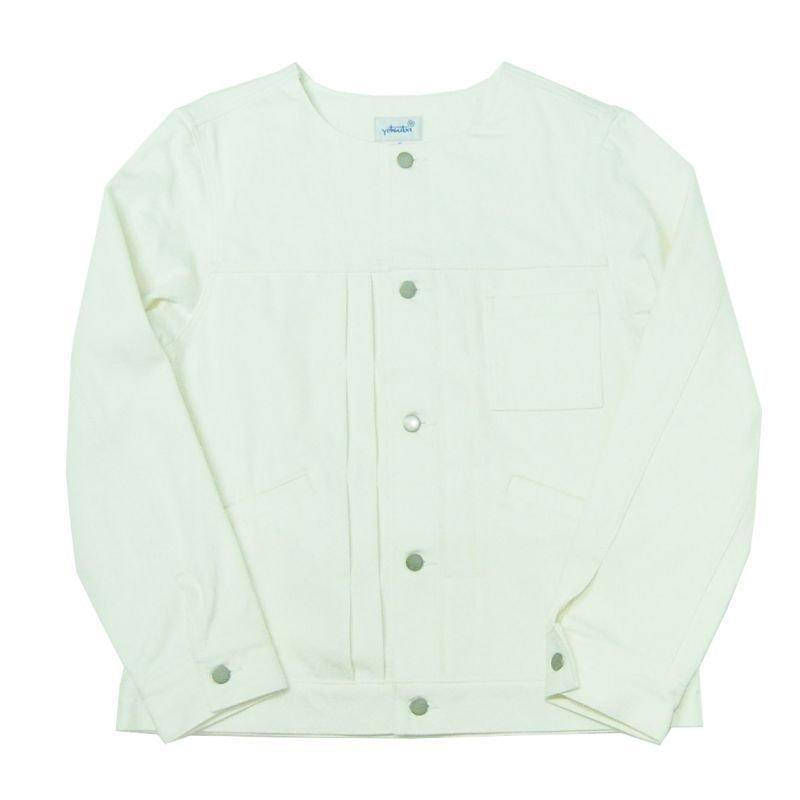 画像1: yotsuba - Nocollar Button Jaket [White]