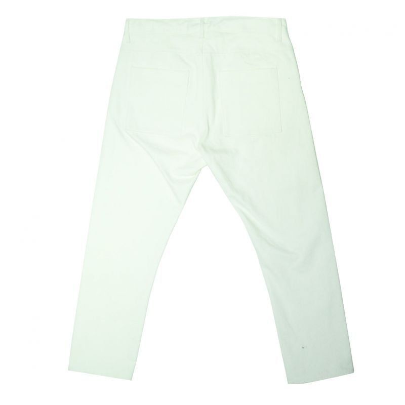 画像2: yotsuba - Cropped Denim Pants [White]