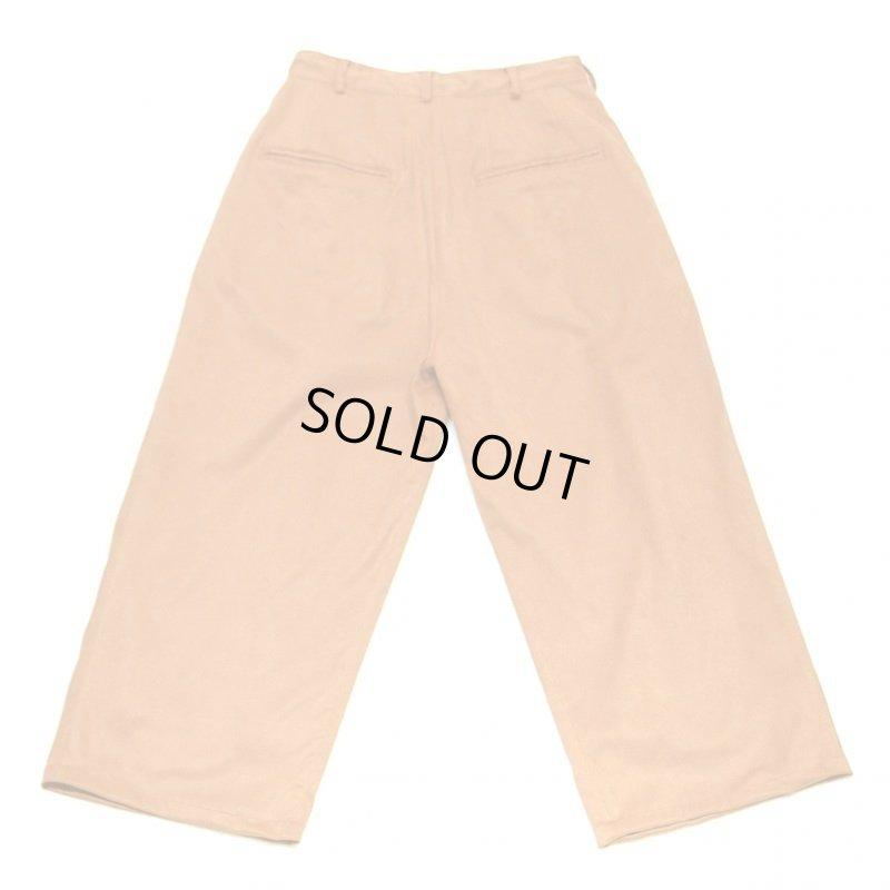 画像2: yotsuba - Fakesuede 4tuck Wide Pants [Orange]