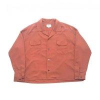 yotsuba - Rayon Open Collar Shirt [Pink]